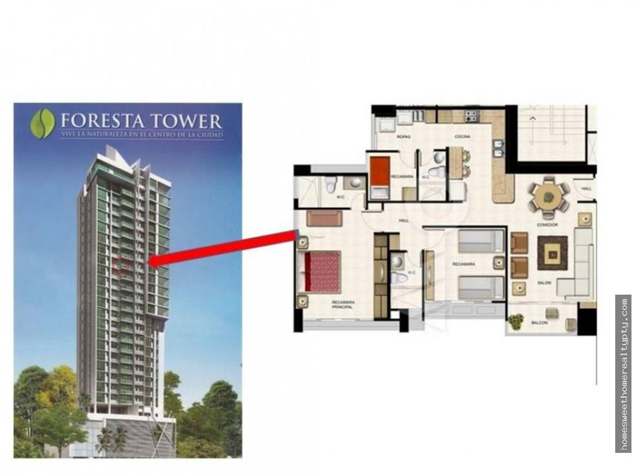 se vende apartamento foresta tower rr