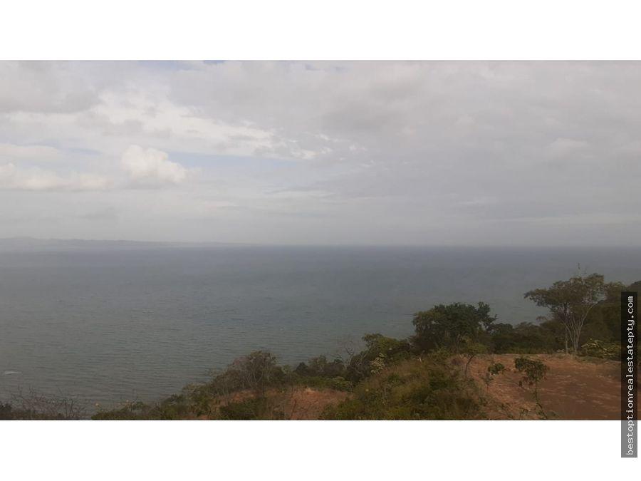 vendo lote terreno con espectacular vista al mar super precio