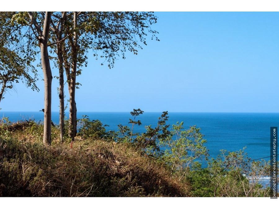 vendo lote terreno con vista inmejorable hacia el mar
