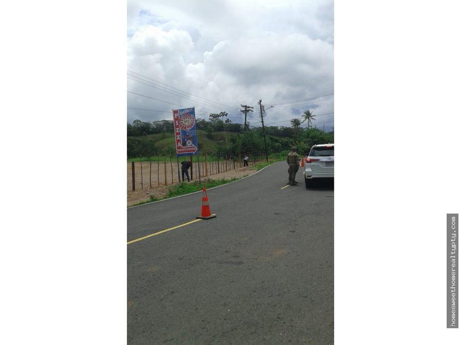 vendo amplio terreno en portobelo jr