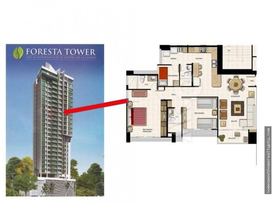 se alquila apartamento foresta tower rr
