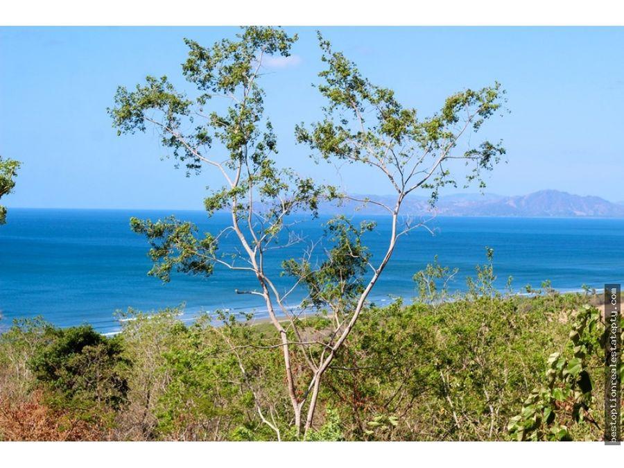 vendo lote terreno con espectacular vista al mar