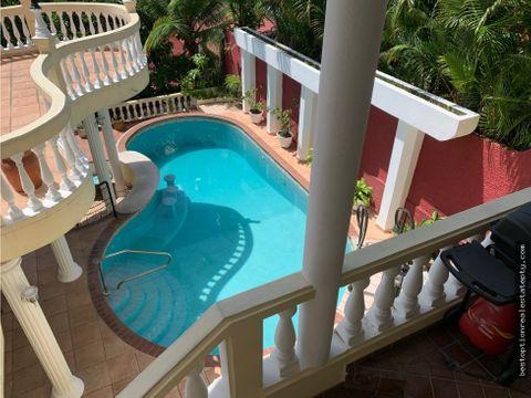 vendo casa en dos mares con piscina 317m2 4 recamaras 4 niveles