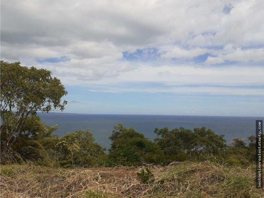 vendo lote terreno con gran vista del oceano la playa y la isla