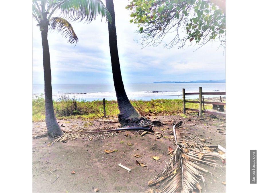 lote frente a la playa en tivives unico