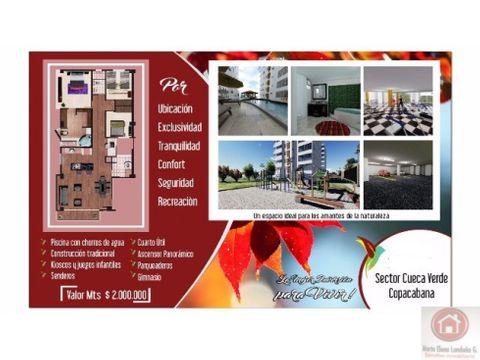 venta apartamento campestre copacabana