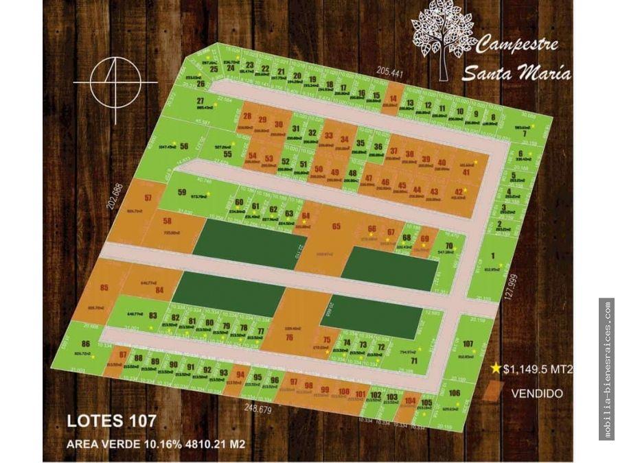 venta terrenos campestre santa maria a 5 min de zibata