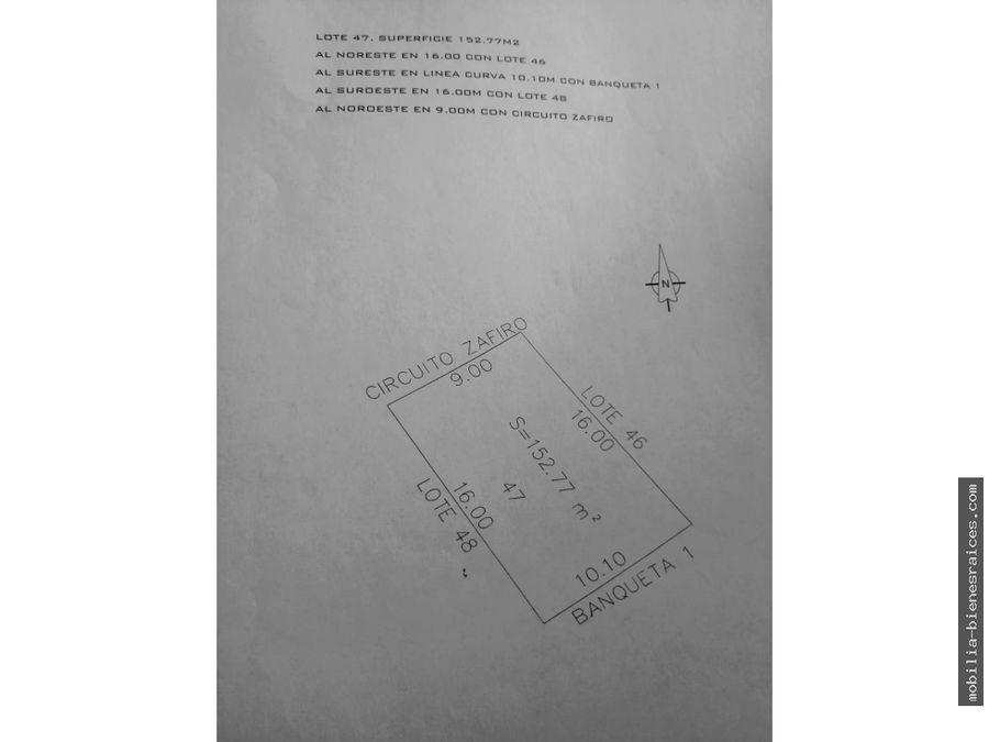 venta de terreno en punta esmeralda 820000 corregidora