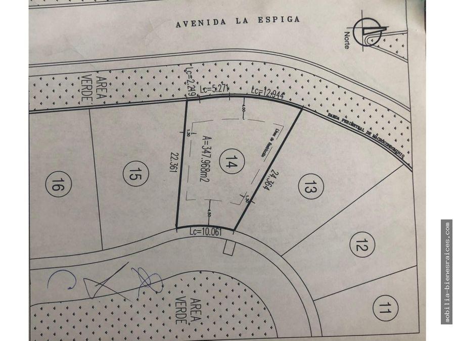 venta de terreno en residencial la espiga queretaro