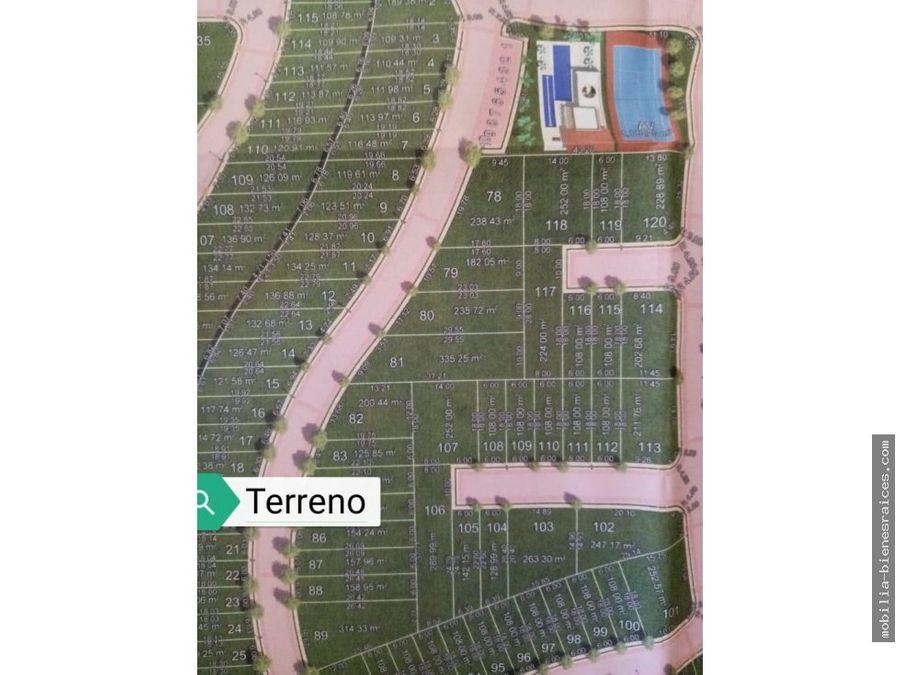 venta terreno ciudad maderas qro cond abeto 112m2