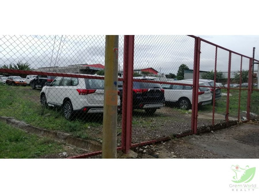 venta terreno en zona industrial belen heredia