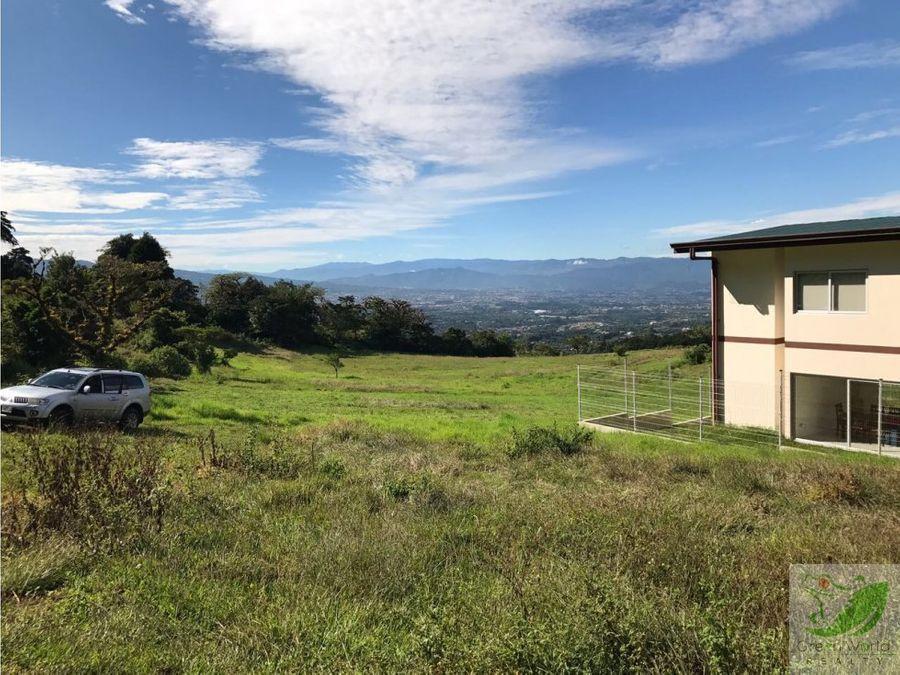 lote en san isidro de heredia expectacular vista al valle central