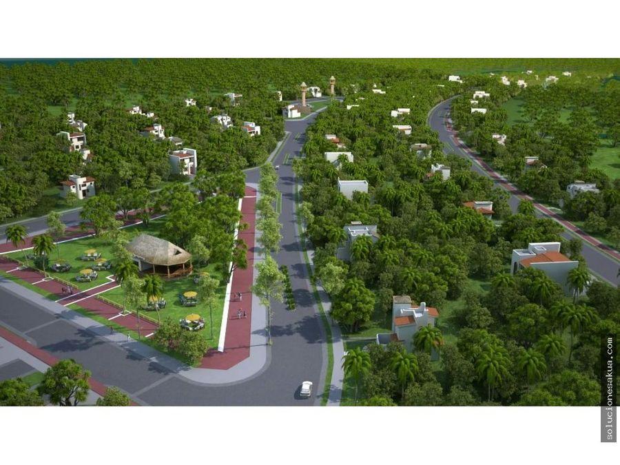 lotes residenciales en chemuyil