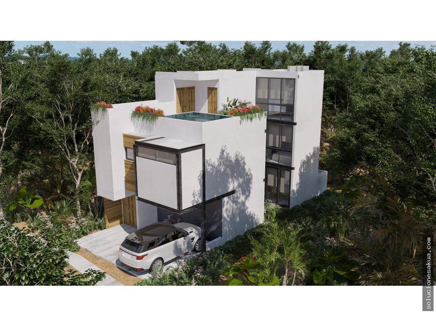 casas de 3 rec eq con excelentes amenidades tulum