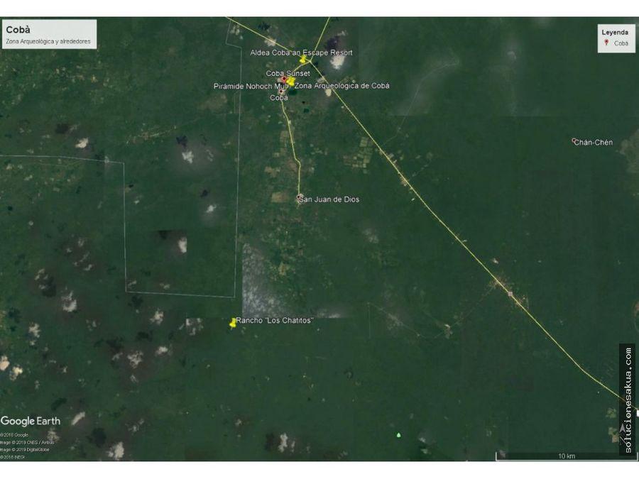195 hectareas cerca de las ruinas de coba