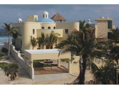 espectacular villa frente al mar en tankah