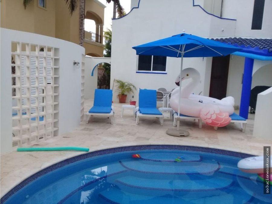 hermosa casa frente a la playa en tulum