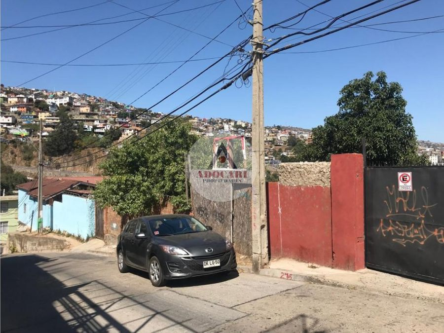 terreno 710 m2 cerro merced valparaiso