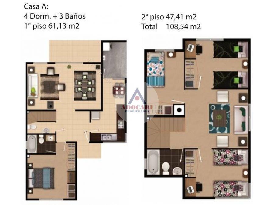 casa condominio bosque real curauma 4d 3b 2e