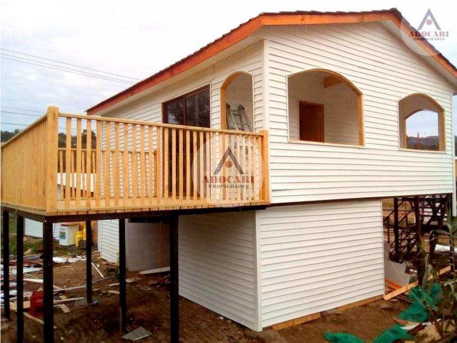 sitio con 3 cabanas en laguna verde valparaiso
