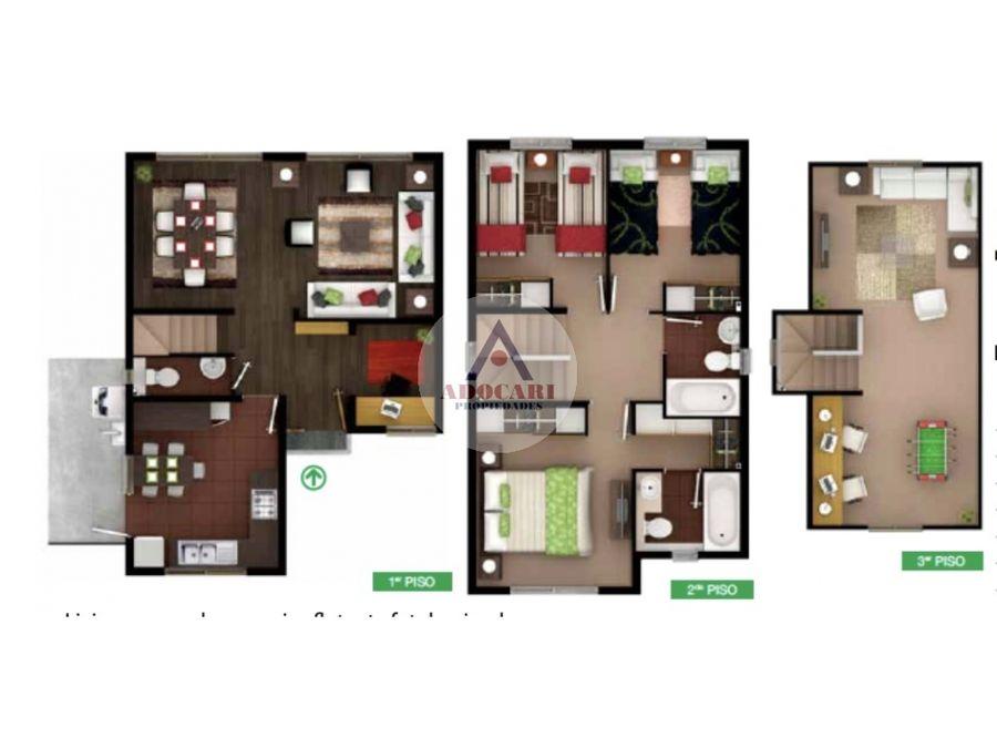 curauma casa de 3 pisos