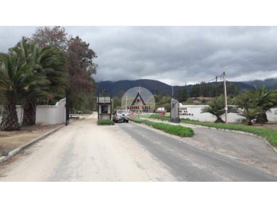 parcela en condominio oasis de la campana quillota v region