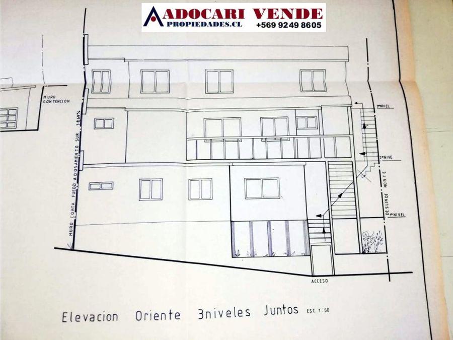 3 casas amobladas en cerro mariposas valparaiso
