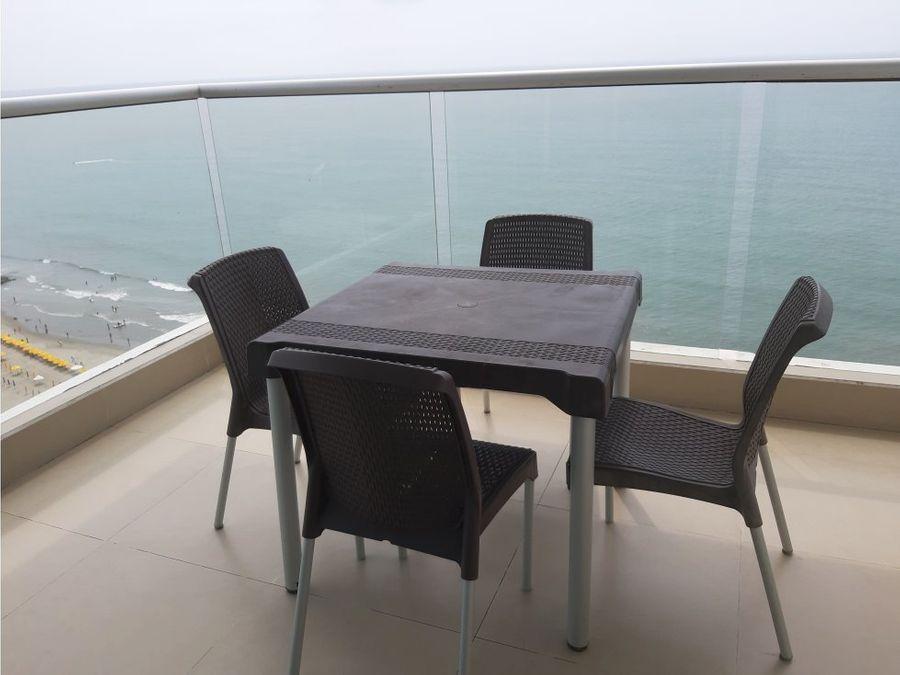 venta apartamento 2 alcobas bocagrande frente al mar