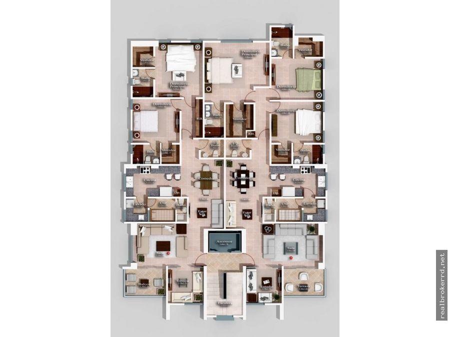 apartamento en venta en el mirador norte sto dgo