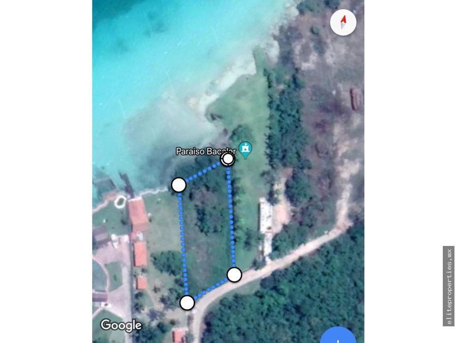 vendo terreno cerca de cenote azul bacalar