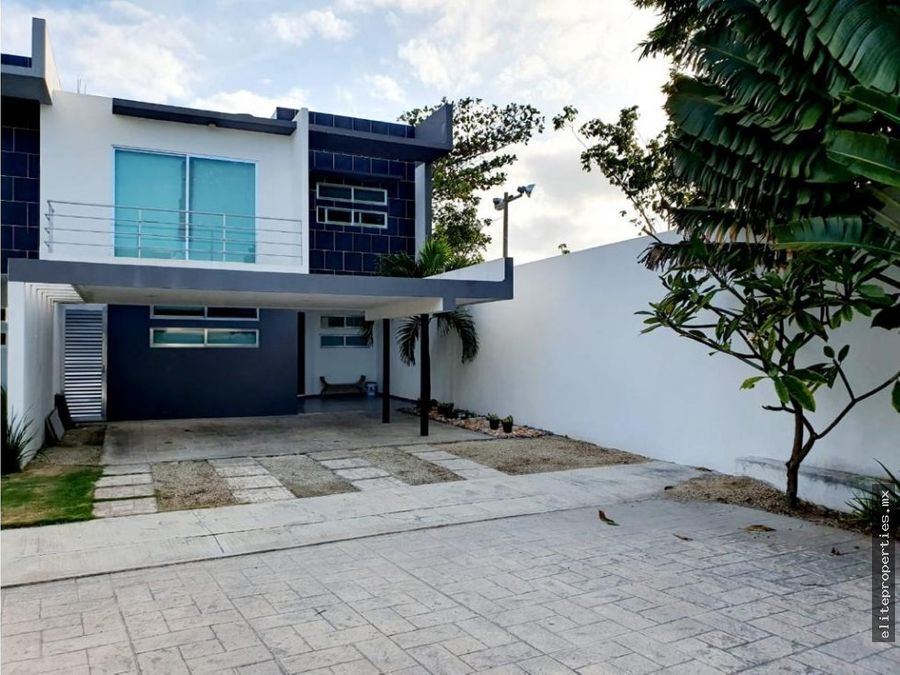 venta de preciosa casa en fracc privado en temozon norte merida