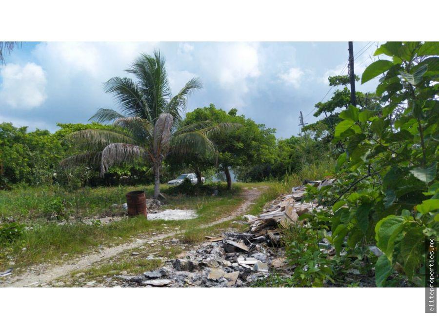 en venta terreno estupendo para proyecto hotelero en isla mujeres