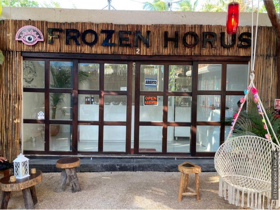 traspaso heladeria frozen horus