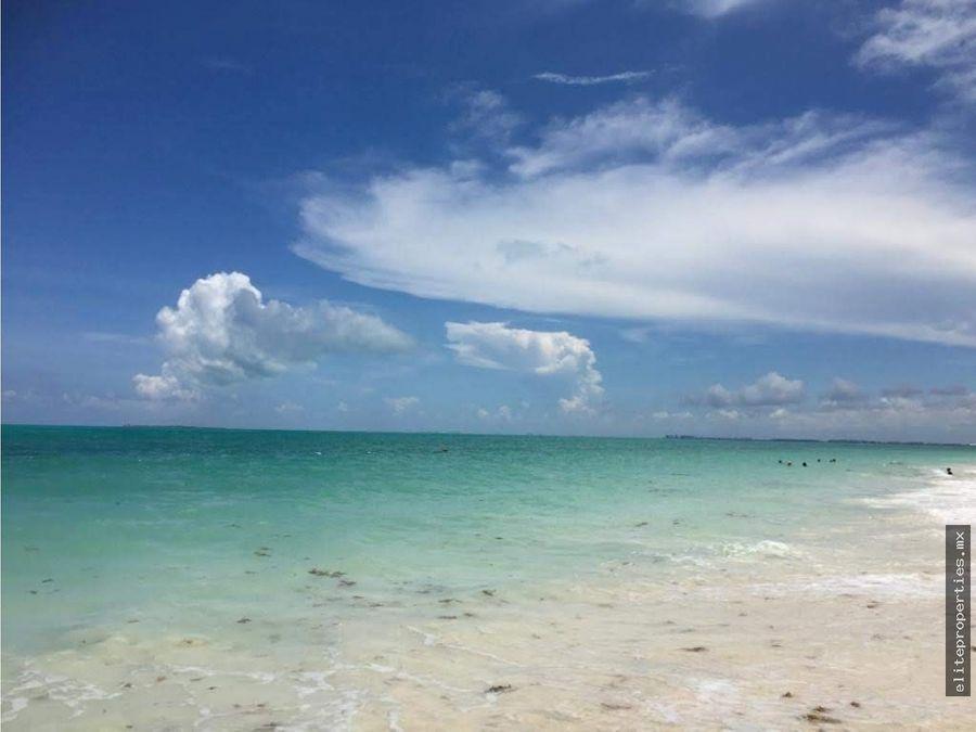 excelente terreno con playa en puerto morelos