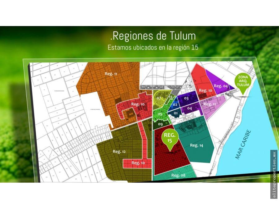 ultimos lotes con estupenda ubicacion en mza 23 de tulum region 15
