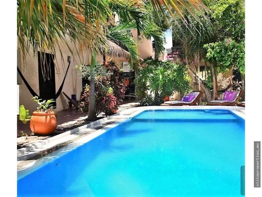 venta de hotel con 12 villas en tulum