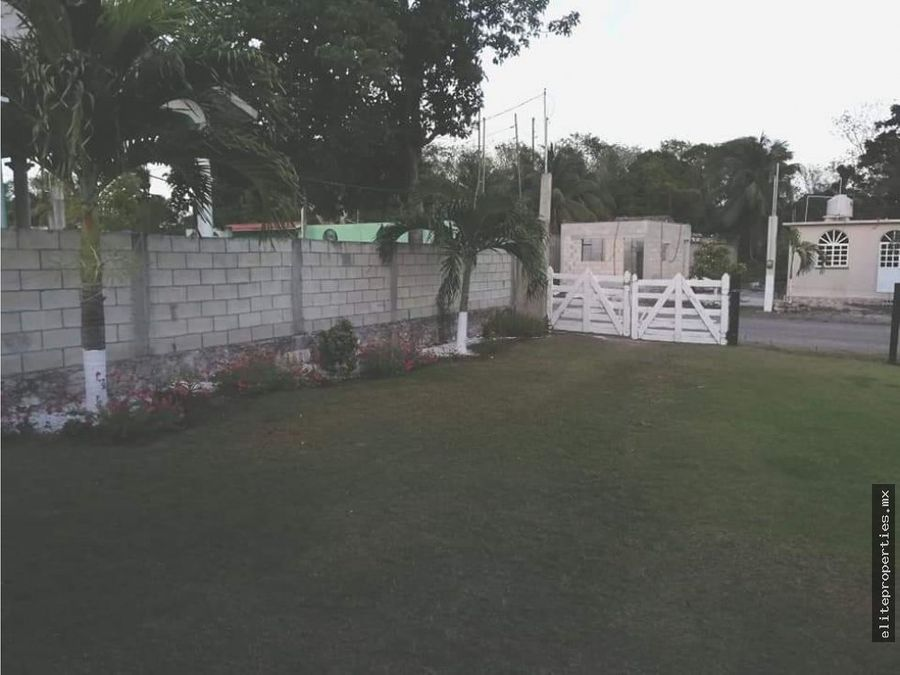 vendo terreno con casa en el centro de bacalar