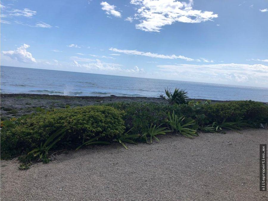 akumal terreno frente al mar