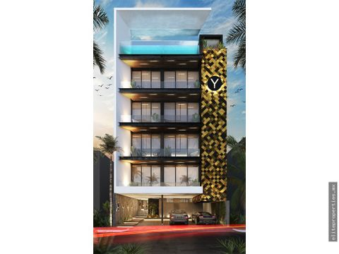 venta de estudio yellow en playa del carmen