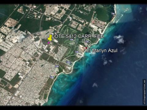 lote de 5412 m2 en carr fed cancun tulum