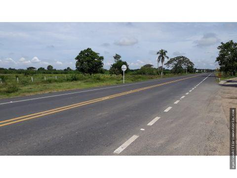 vende terreno a orilla de carretera en san carlos