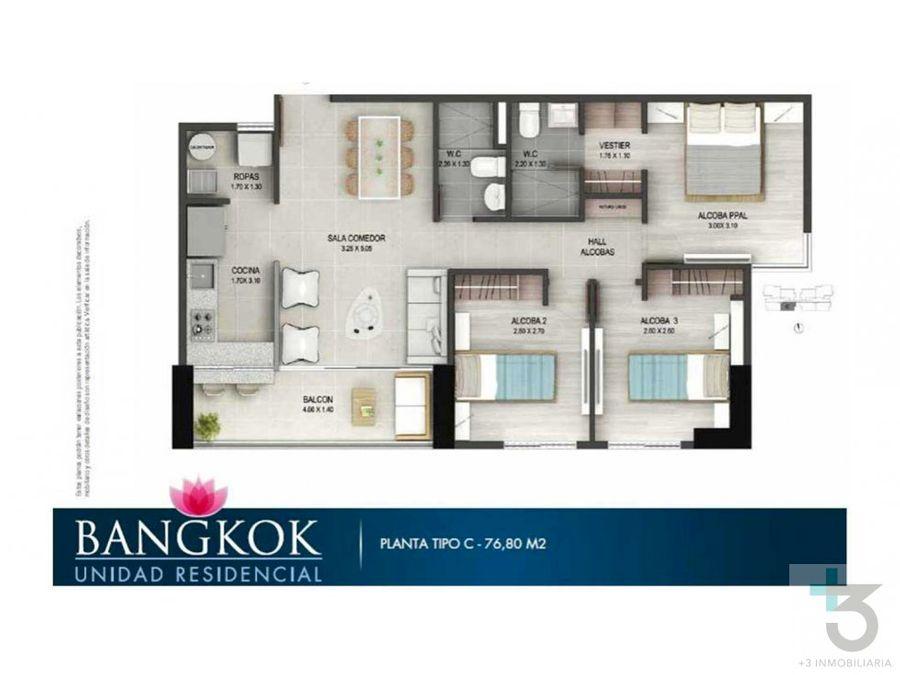 se vende apartamento en sabaneta bangkok