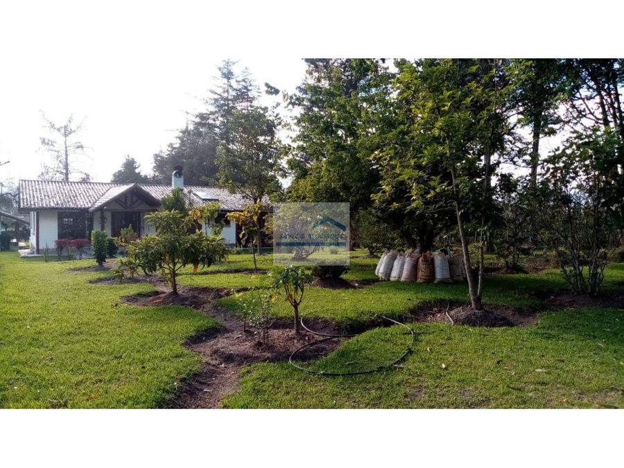 amplio terreno en venta con casa de campo tababela 75m2