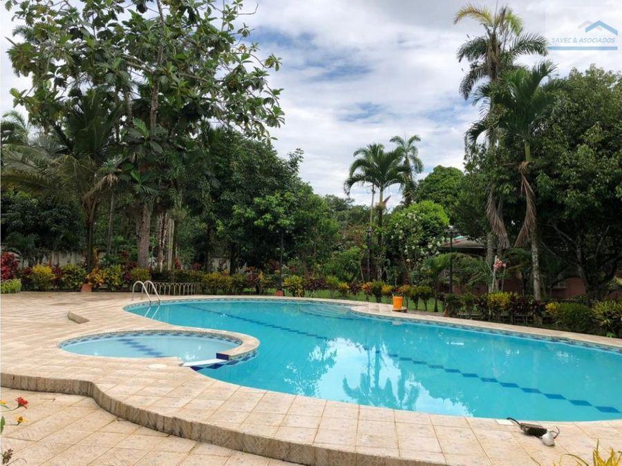 venta quinta con piscina tena 780000
