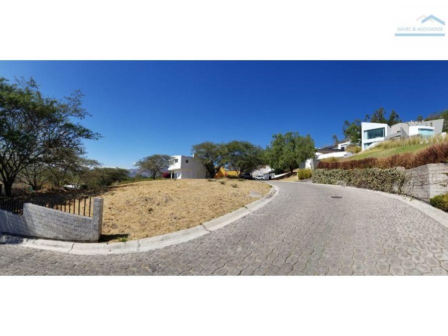 venta lote 1085 m2 exclusiva urb cumbaya 340000