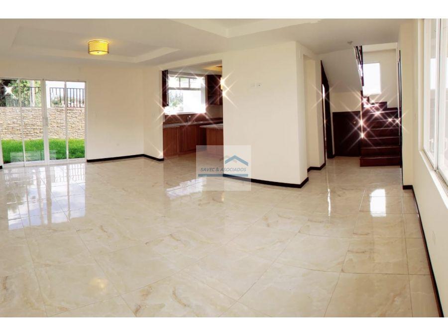 casa por estrenar en venta valle de los chillos 135500