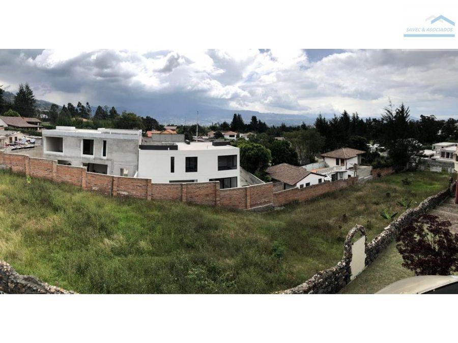 terreno en venta tumbaco 600mil