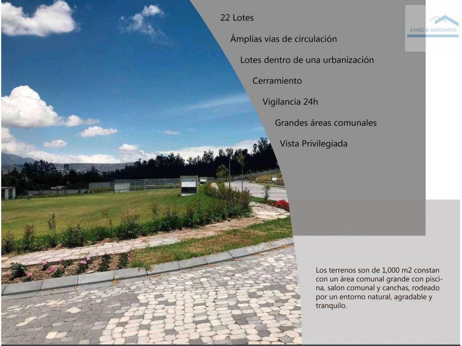 venta lotes exclusiva urb puembo 201000