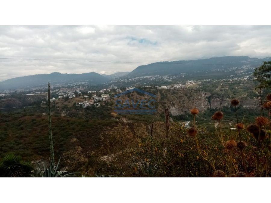 amplio terreno en venta tumbaco para promotores 2100000