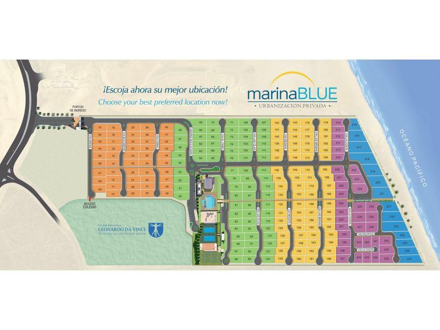 terreno vista al mar en urbanizacion marina blue manta